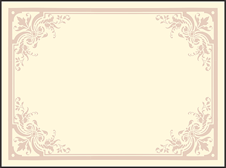 Victorian Elegance Letterpress Placecard Flat Design Medium