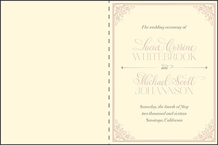 Victorian Elegance Letterpress Program Design Medium