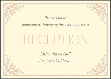 Victorian Elegance Letterpress Reception Design Medium