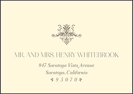 Victorian Elegance Letterpress Reply Envelope Design Medium
