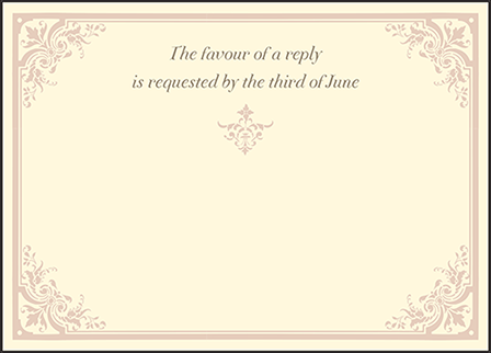 Victorian Elegance Letterpress Reply Design Medium