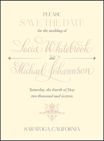 Victorian Elegance Letterpress Save The Date Design Medium