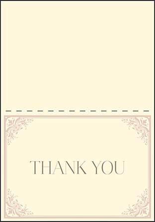 Victorian Elegance Letterpress Thank You Card Fold Design Medium
