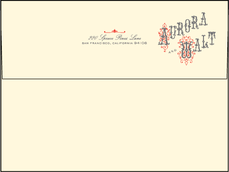 Victrola Letterpress Envelope Design Medium