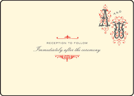 Victrola Letterpress Reception Design Medium