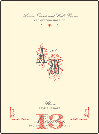 Victrola Letterpress Save The Date Design Medium