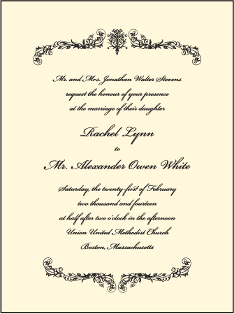 Viennese Waltz Letterpress Invitation Design Medium