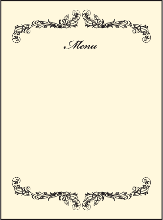 Viennese Waltz Letterpress Menu Design Medium