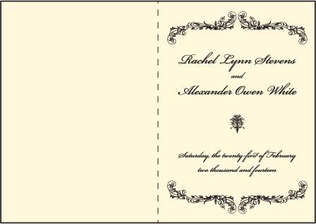 Viennese Waltz Letterpress Program Design Medium