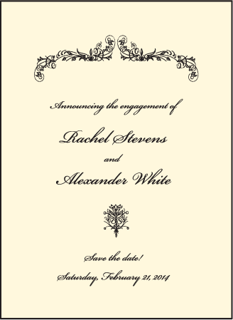 Viennese Waltz Letterpress Save The Date Design Medium