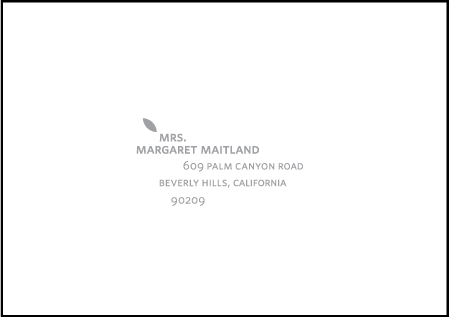 Ville-Marie Letterpress Reply Envelope Design Medium