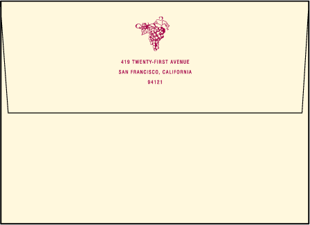 Vineyard Letterpress Envelope Design Medium