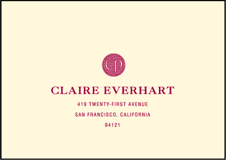 Vineyard Letterpress Reply Envelope Design Medium
