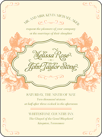 Vintage Apothecary Letterpress Invitation Design Medium