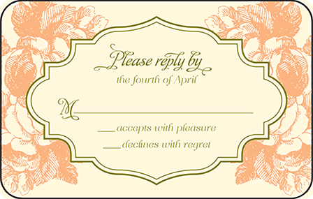 Vintage Apothecary Letterpress Reply Postcard Front Design Medium