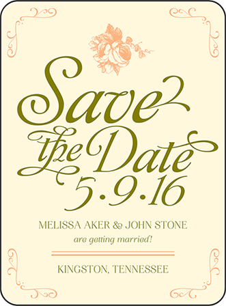 Vintage Apothecary Letterpress Save The Date Design Medium