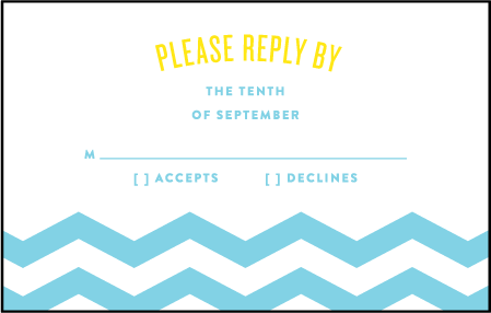 Vintage Beach Letterpress Reply Postcard Front Design Medium