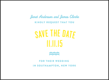 Vintage Beach Letterpress Save The Date Design Medium