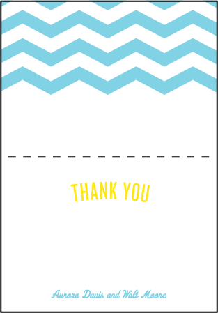 Vintage Beach Letterpress Thank You Card Fold Design Medium
