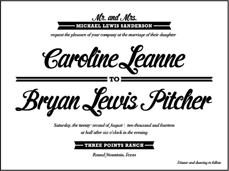 Vintage Charm Letterpress Invitation Design Medium