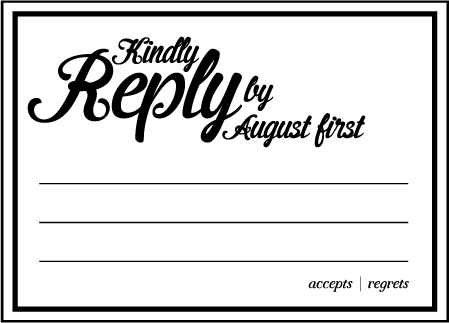 Vintage Charm Letterpress Reply Design Medium