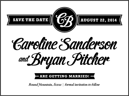 Vintage Charm Letterpress Save The Date Design Medium