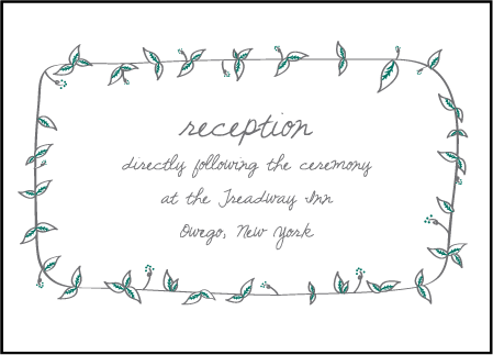 Vintage Leaves Letterpress Reception Design Medium