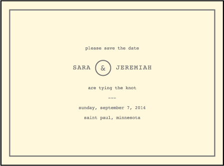 Vintage Librairie Letterpress Save The Date Design Medium