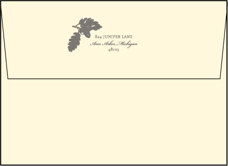 Walden Letterpress Envelope Design Medium