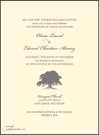 Walden Letterpress Invitation Design Medium