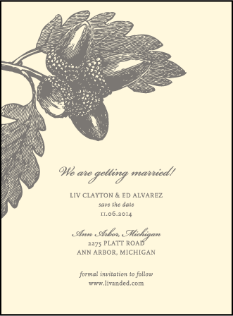 Walden Letterpress Save The Date Design Medium