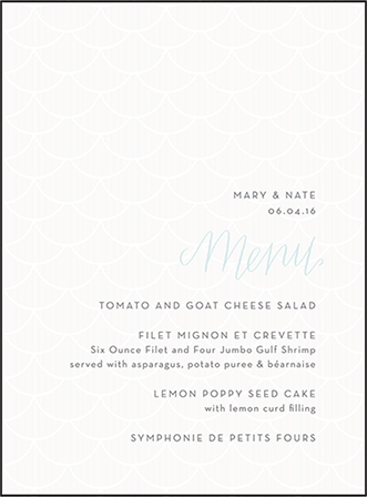 Wave Letterpress Menu Design Medium