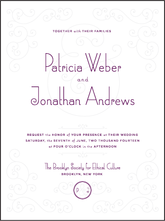 Weber Letterpress Invitation Design Medium