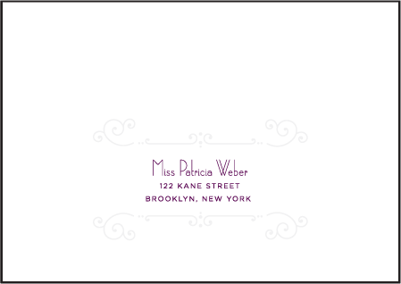 Weber Letterpress Reply Envelope Design Medium