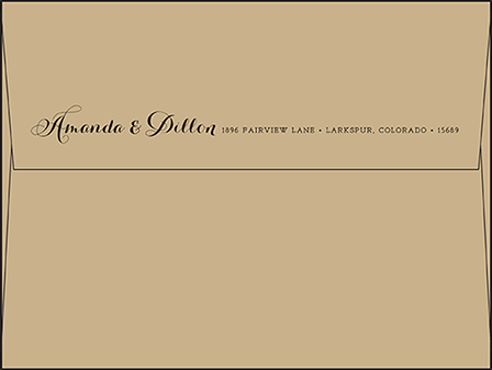 Westley Letterpress Envelope Design Medium