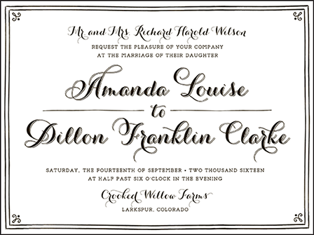 Westley Letterpress Invitation Design Medium
