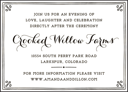 Westley Letterpress Reception Design Medium