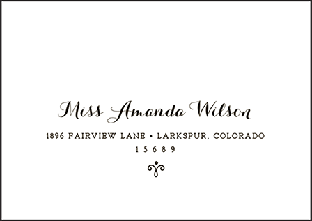 Westley Letterpress Reply Envelope Design Medium