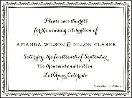 Westley Letterpress Save The Date Design Medium