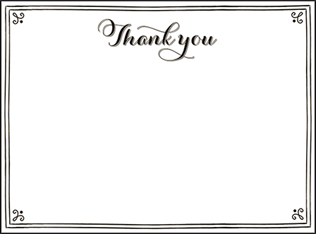 Westley Letterpress Thank You Card Flat Design Medium
