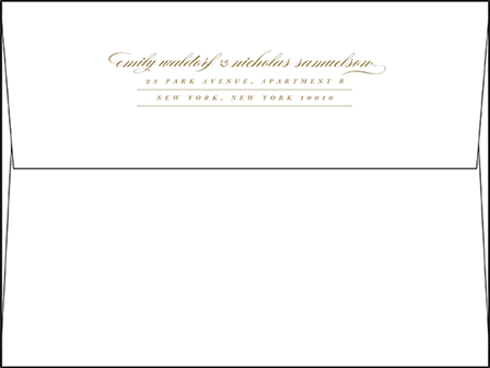 Whisper Letterpress Envelope Design Medium
