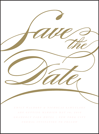 Whisper Letterpress Save The Date Design Medium