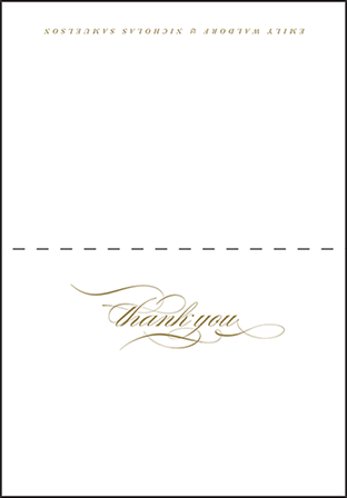 Whisper Letterpress Thank You Card Fold Design Medium