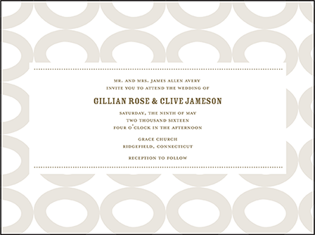 Wicklow Letterpress Invitation Design Medium