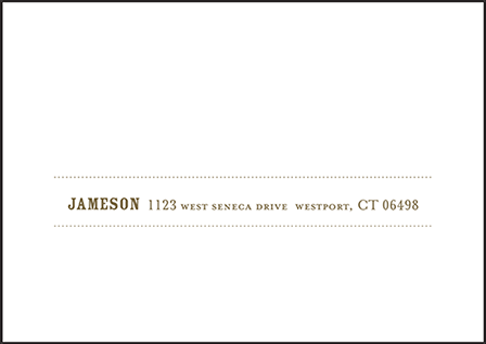 Wicklow Letterpress Reply Envelope Design Medium