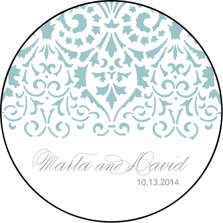 Wisteria Letterpress Coaster Design Medium