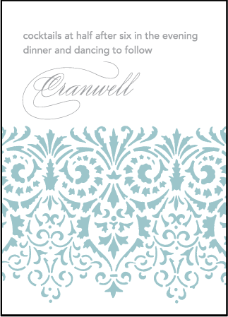 Wisteria Letterpress Reception Design Medium