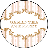 A Bientot Letterpress Coaster Design Small