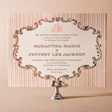A Bientot Letterpress Invitation Design Small