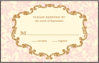 A Bientot Letterpress Reply Postcard Front Design Small